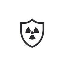 Nuclear Protection. Nuclear Shield. Nuclear Storage. Vector Shield Icon. Security Vector Icon. Protection Icon. Shield Vector Icon. Nuclear Reactor. Protection Activated. Active Safety. Radiation.