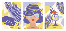 Set Of Summer Illustraitions. ...