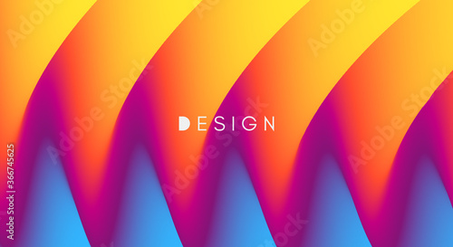 Abstract waved background with layers Canvas
