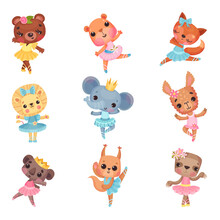 Cute Animals In Ballerina Dres...