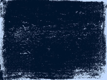 A Blue And Navy Vector Texture Of A Distressed Lino Print. Ideal As A Background Or For Making Grunge Effects. The Vector File Has A Background Fill And A Texture Layer For Easy Color Scheme Edits.
