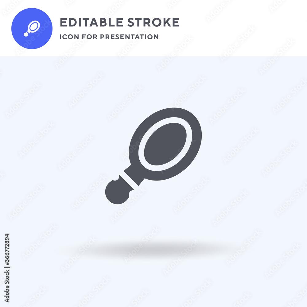 Fototapeta Pocket Mirror icon vector, filled flat sign, solid pictogram isolated on white, logo illustration. Pocket Mirror icon for presentation. - obraz na płótnie