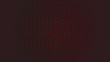 Red Hexagon Carbon Fiber Texture Wallpaper, Abstract Vector Backgrounds.