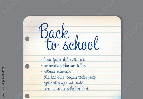 Fototapeta Back-To-School Banner Layout obraz