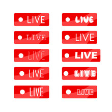 Live Sign Icon. On Air Stream ...