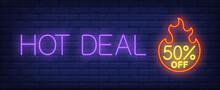 Hot Deal, Fifty Percent Off Ne...