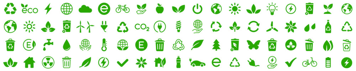 Ecology icons set. Nature icon. Eco green icons. Vector