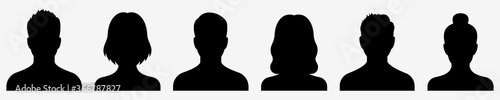 Fototapeta Avatar icon. Profile icons set. Male and female avatars. Vector illustration obraz