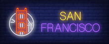 San Francisco Neon Sign. Golde...