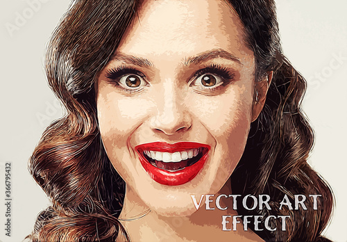 Vector Art Photo Effect Mockup