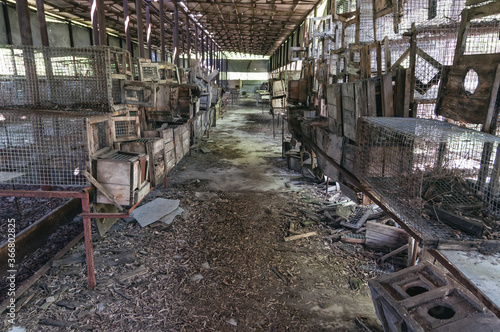 Laboratory of Hydrobiology animal building in Pripyat, Chernobyl exclusion Zone Canvas Print