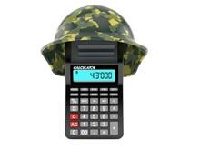 Calculator With Military Helmet