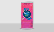 Summer Party Banner With  Roll...