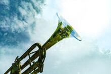 Double Exposure Nature Trumpet