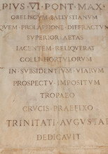 Roman Script On Obelisco Sallu...