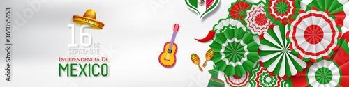 Fototapeta Mexico Independence Day (Día de la Independencia).