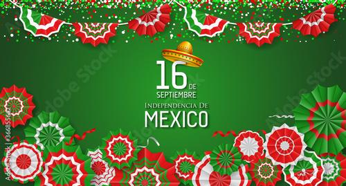 Obraz Mexico Independence Day (Día de la Independencia). - fototapety do salonu