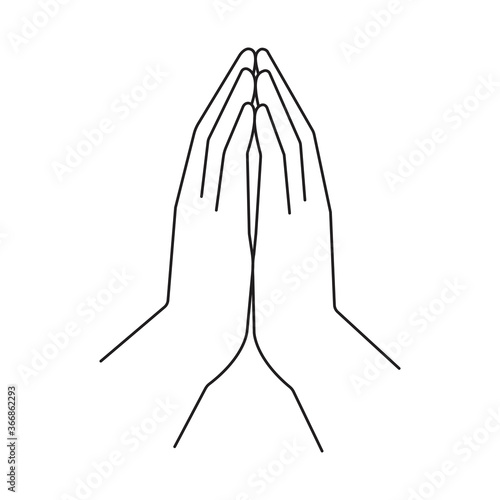 Vector image of hands in prayer Fototapet