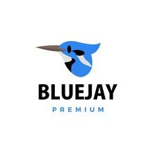 Bluejay Flat Logo Vector Icon ...