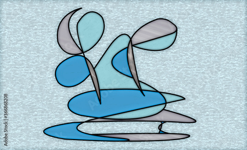 Fototapety, obrazy: creative abstract style design for window and door decoration