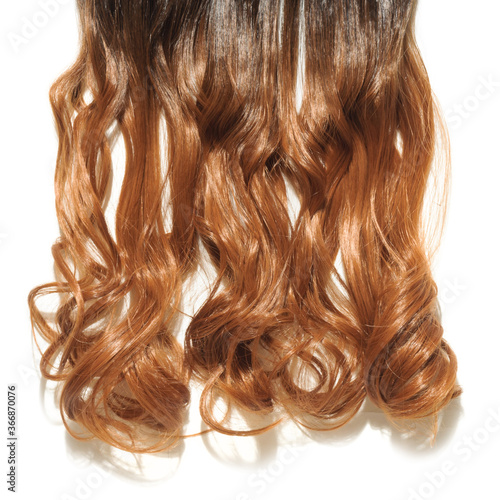Single Piece Clip In Wavy Black To Brown Two Tone Ombre Style Synthetic Hair Extensions Buy This Stock Photo And Explore Similar Images At Adobe Stock Adobe Stock