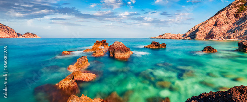 Fotografie, Tablou Panoramic summer view of Petani Beach