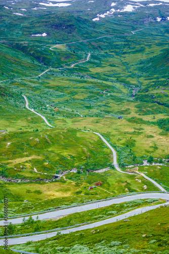 Mountains landscape. Norwegian route Sognefjellet