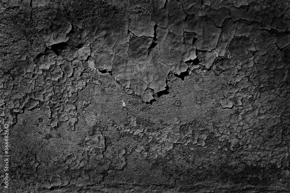 Fototapeta abstract black background blank concrete wall grunge stucco cracked texture