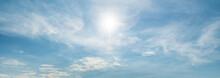 Sun Shining Through Thin Clouds