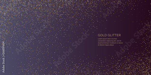 Fototapeta Background with gold glitter to place the inscription. obraz