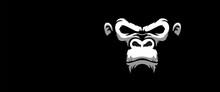 Angry Monkey White Illustratio...