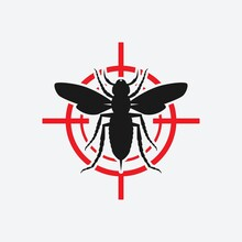 Asian Giant Hornet Icon Red Target