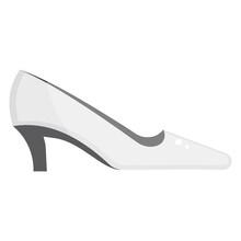 Flat Icon Of Ladies High Heel...