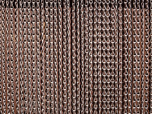 Metallic Chains Curtains On Th...