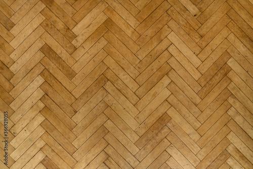 Fototapeta Old wooden parquet floor planks obraz na płótnie