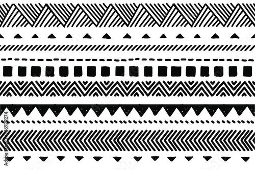 Ethnic vector seamless pattern Wallpaper Mural