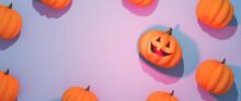 Halloween Pumpkins Flat Lay Co...