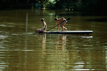 SUP - Stand Up Paddle. A Boy A...