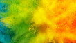 Abstract coloured powder explosion background