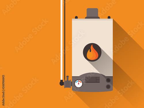 Fototapeta Home gas furnace obraz