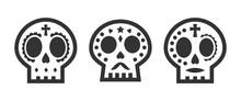 Cute Sugar Skull Icon For The ...