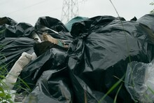 Fly Tipping Plastic Bags Of Ga...