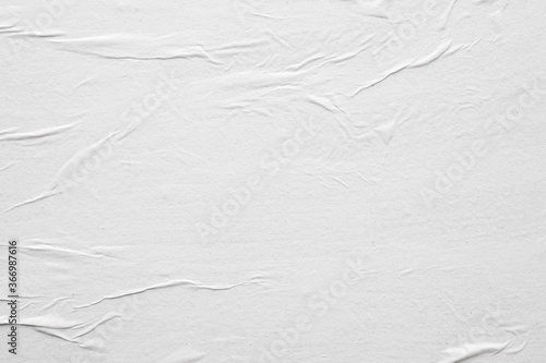 Canvas Print Blank white crumpled and creased paper poster texture background