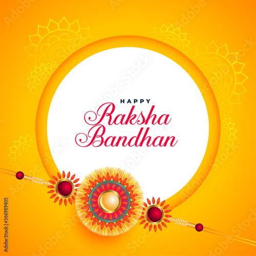 Obraz awesome raksha bandhan festival card with rakhi design - fototapety do salonu