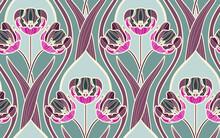Art Nouveaul Seamless Pattern ...