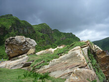 Cloudy View Of The Famous Nanya Rock