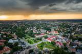 Fototapeta Miasto - Miasto Tychy - Panorama lotnicza- widok na rynek