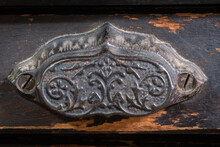 Antique Drawer Pull On Old Woo...