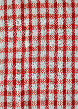 Red And White Striped Fabric T...