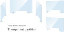 Vector Illustration Set Of Splash Infection Countermeasure Partition.